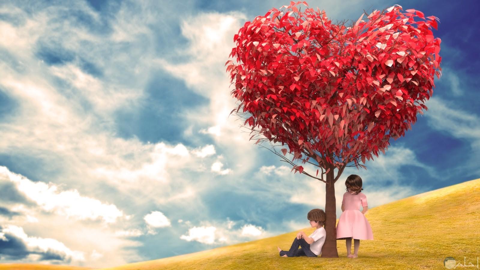ثنائي اسفل شجرة الحب