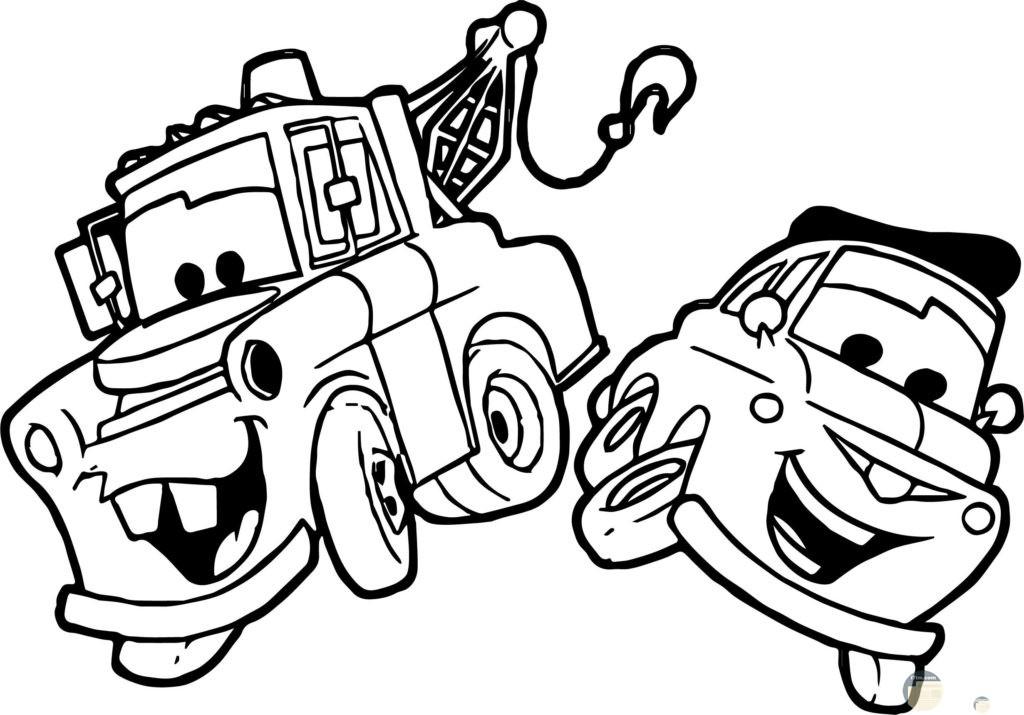 صورة سيارتين سباق للتلوين للأطفال