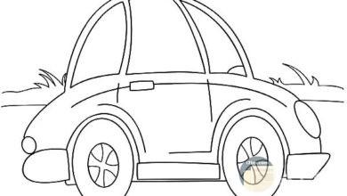 سيارة للتلوين