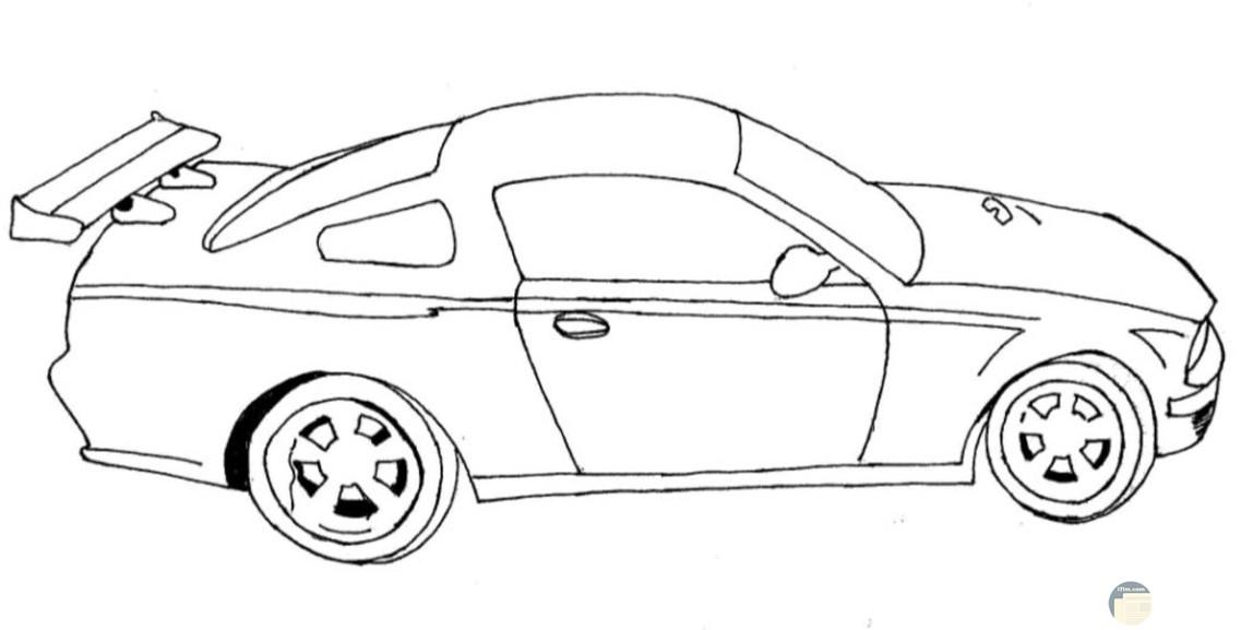 سيارة مرسومة جاهزة للتلوين