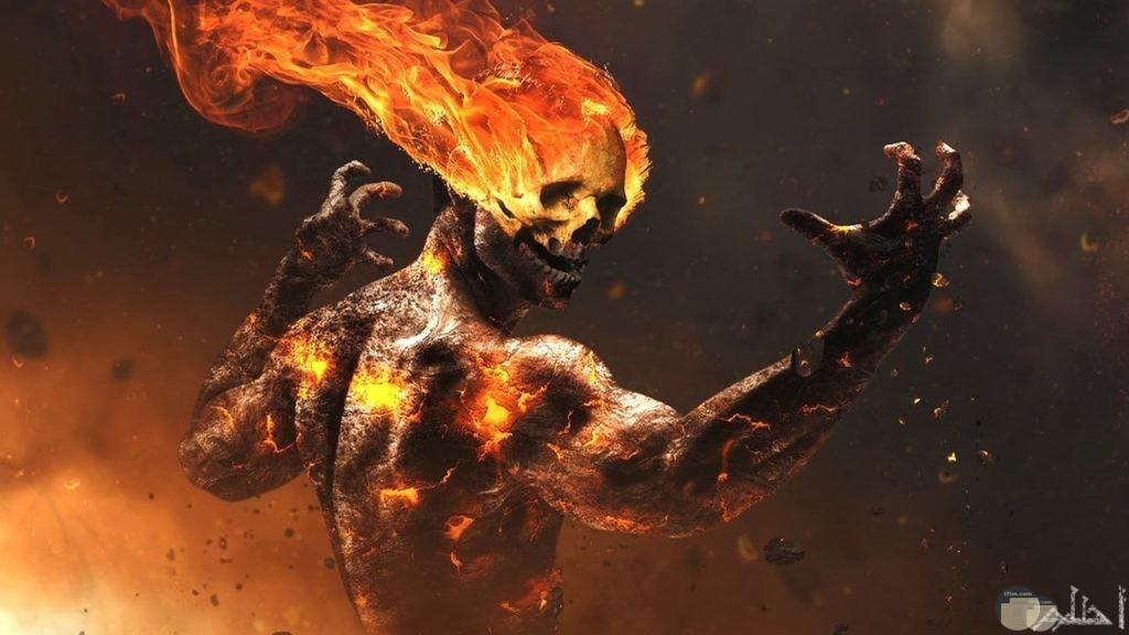 صورة اكشن لرجل النار
