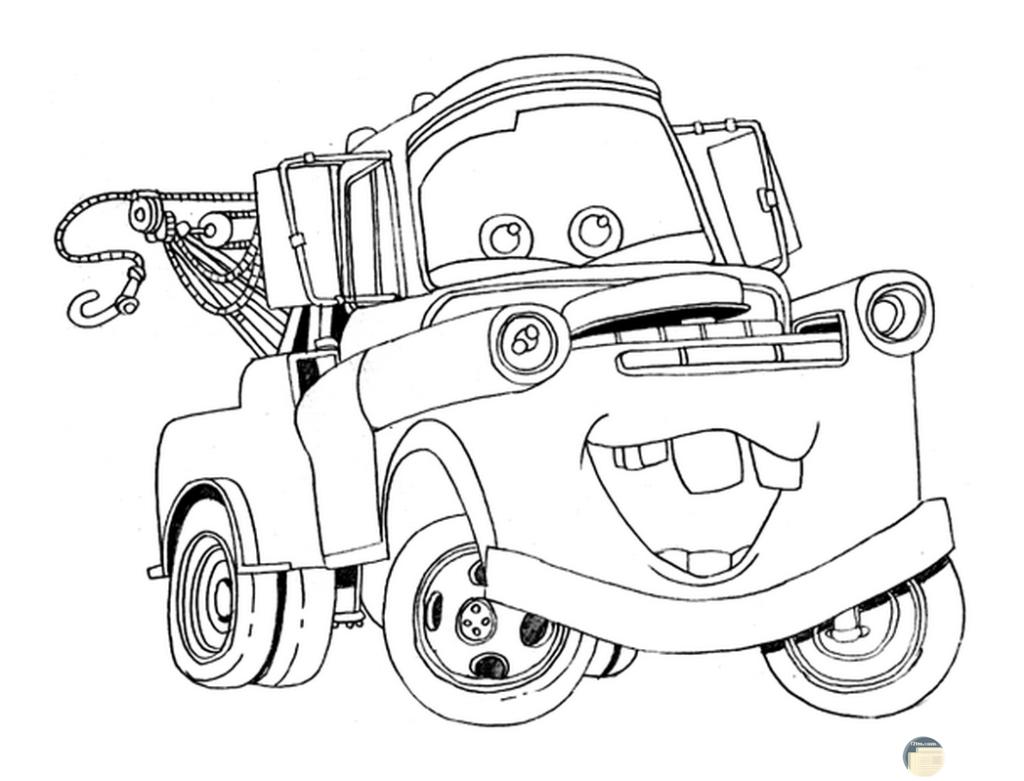 صورة جميلة لسيارة للتلوين لطفل