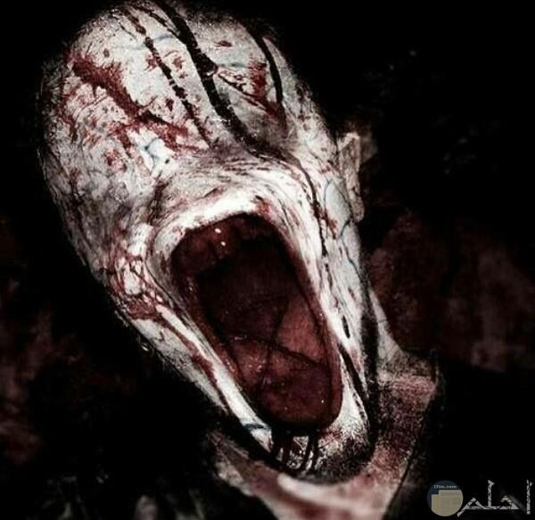 صورة مخيفة جدا لشخص مخيف يصرخ ووجهه مرعب للغايه