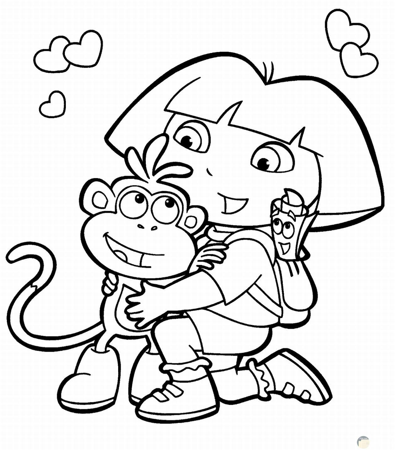 دورا و القرد.