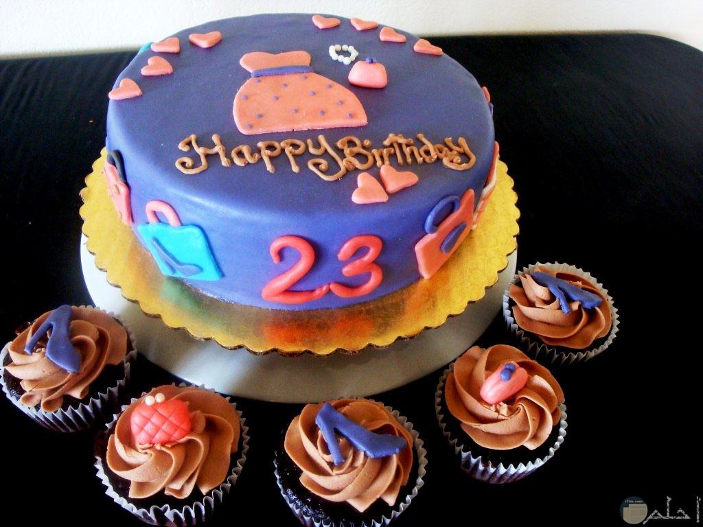 احلي تورتة عيد ميلاد برقم 23