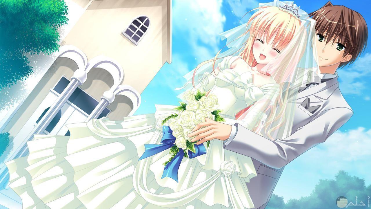 صور عريس وعروسة انمي