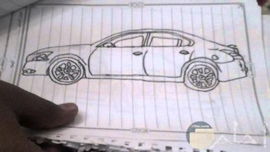 صور سيارات رسم