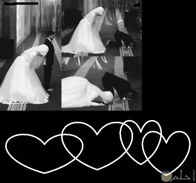 صوره عروسه وعريس يصلون
