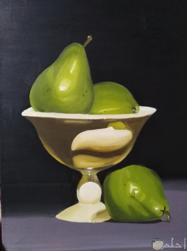 رسم تفاح