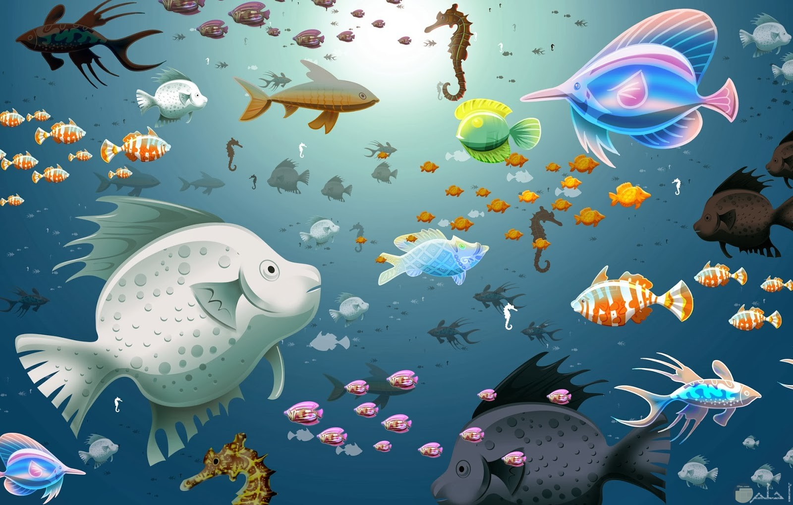 خلفية للتصميم سمك