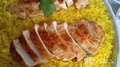 صورة ارز بسمتي مع قطع اللحم