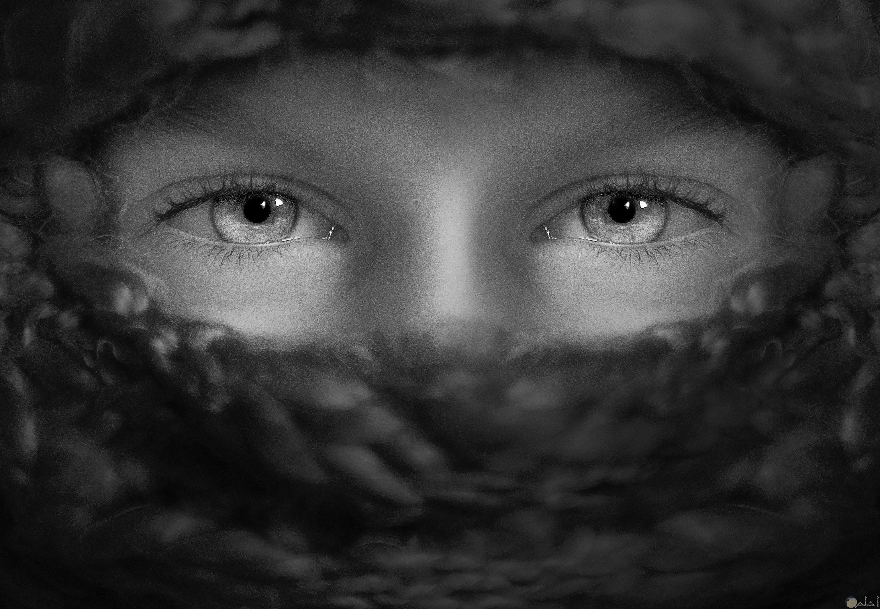 صورة عيون طفل حزين
