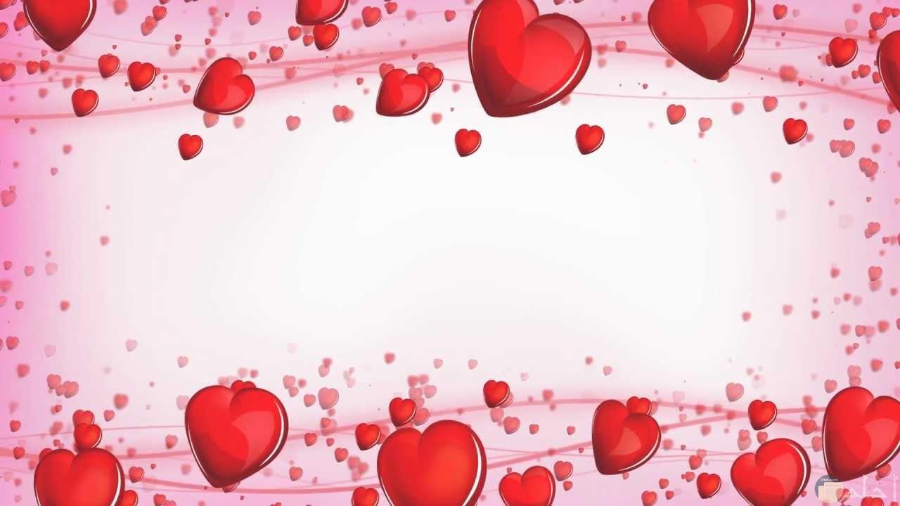 خلفية قلوب حمراء