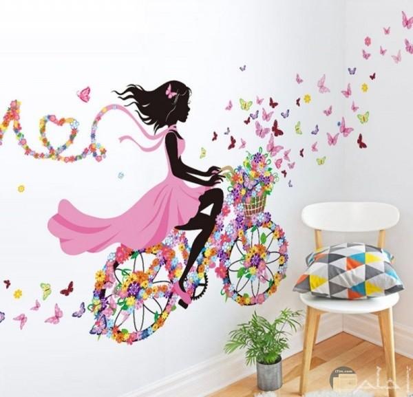 ديكور جميل ورسمة مميزة لغرف الاطفال البنات