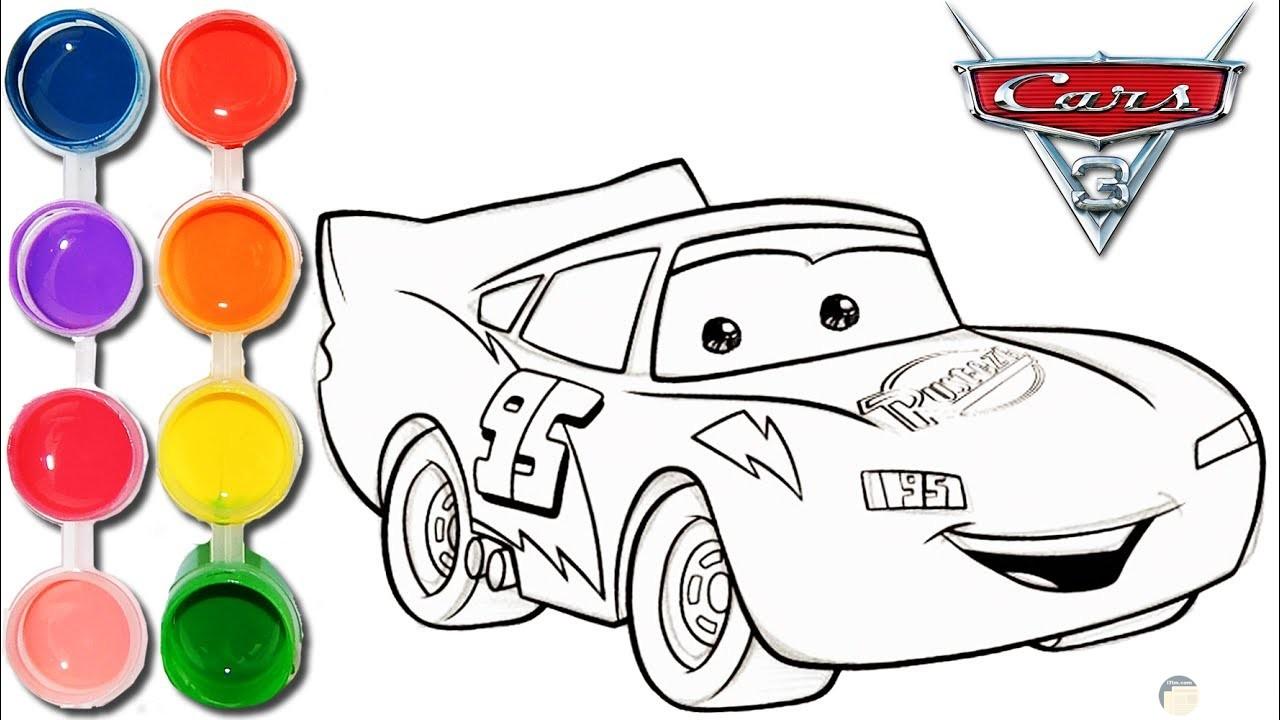 صور سيارات للتلوين بالألوان 4