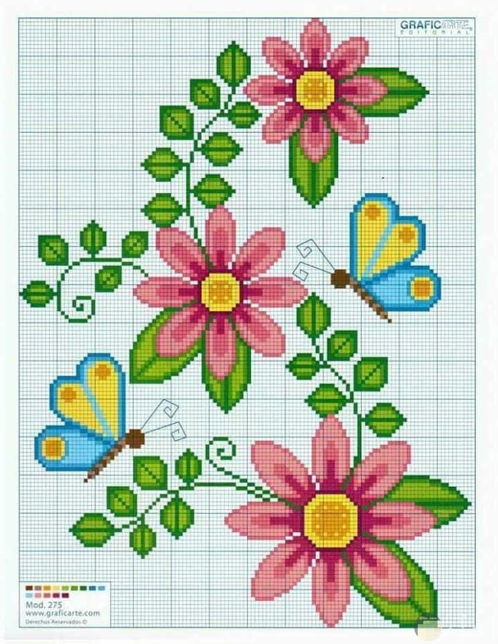 زهور ايتامين للتطريز