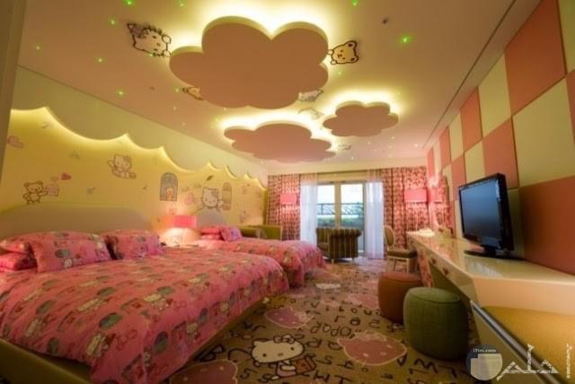 غرفة اطفال بناتي روعة