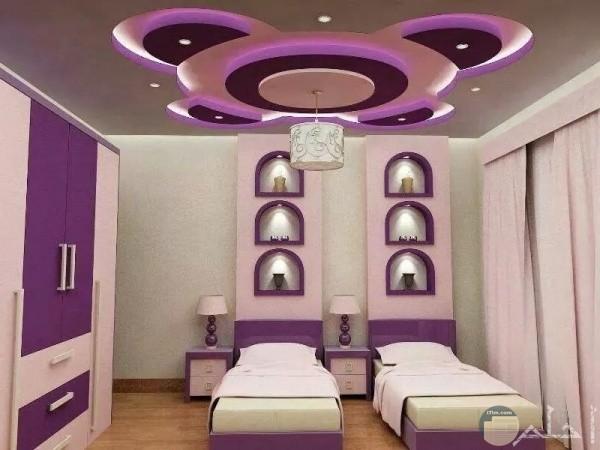 غرفة اطفال شيك وجميلة باضاءة روعة