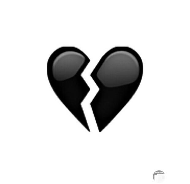 صورة قلب ابيض واسود مكسور