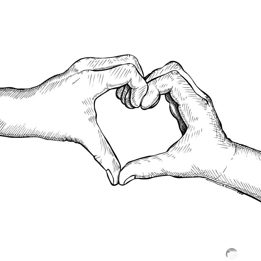 صورة قلب مرسوم باليدين
