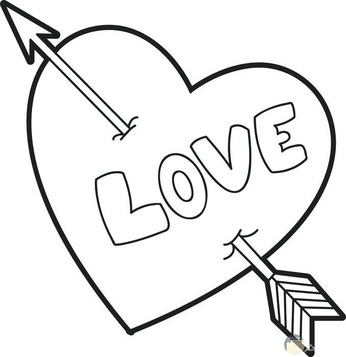 صورة قلب مع سهم كيوبيد