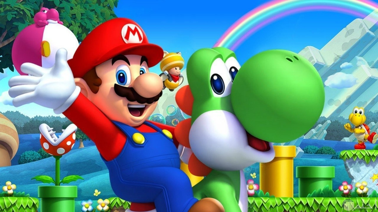 صورة من لعبة ماريو الشهيرة