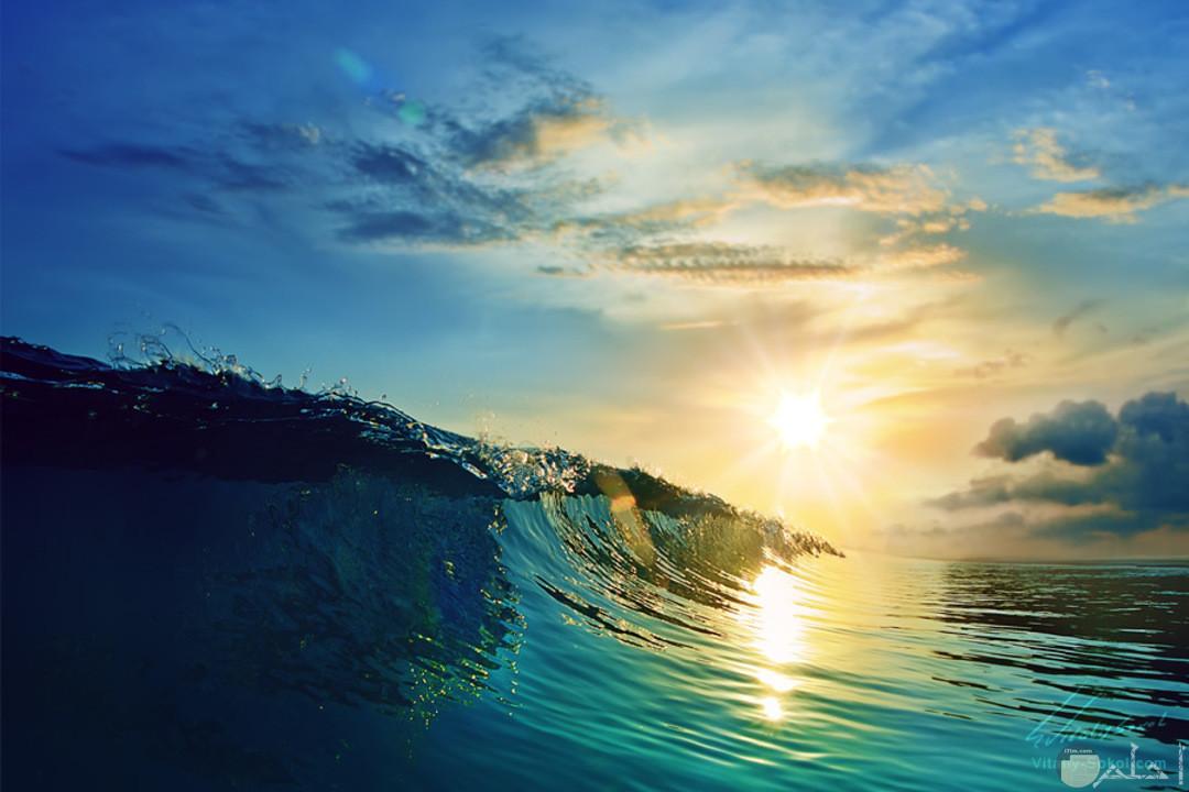 خلفية مميزة من جمال البحر