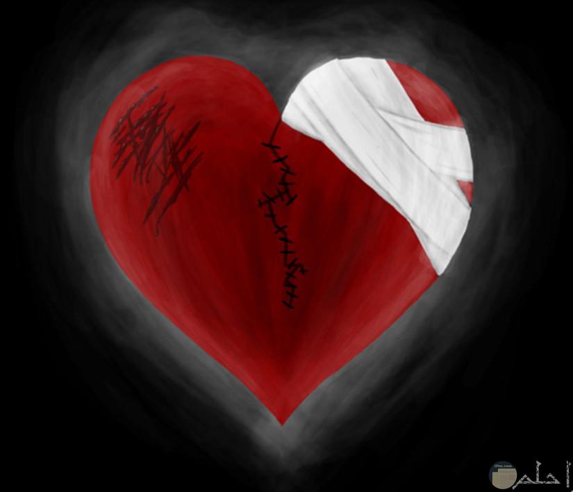 صوره قلب به جرح وخدوش