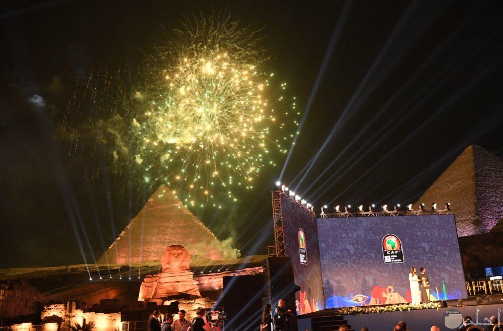 قرعة بطولة الامم الإفريقية مع الالعاب النارية أمام الأهرامات