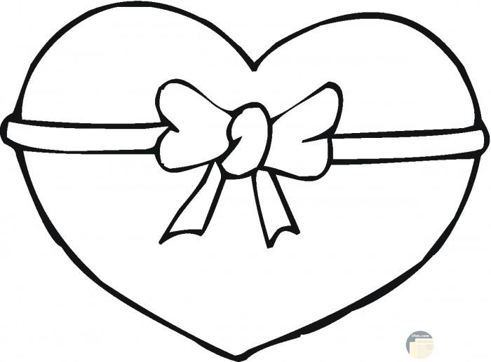 قلب رائع ابيض واسود للتلوين