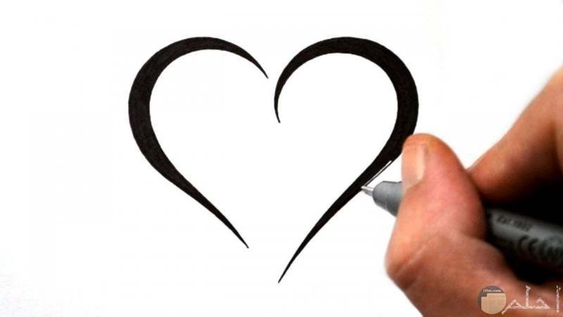قلب مرسوم روعة