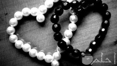 قلوب أبيض واسود رائعة