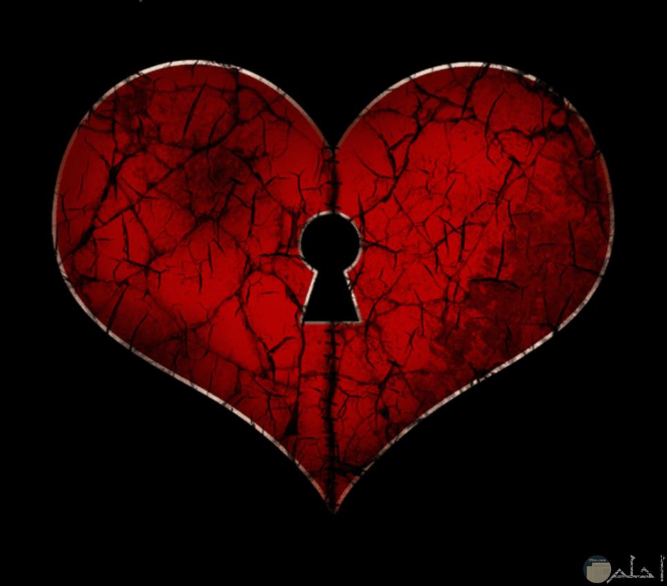 قلب احمر به عده شروخ وبه مكان لمفتاح حزين