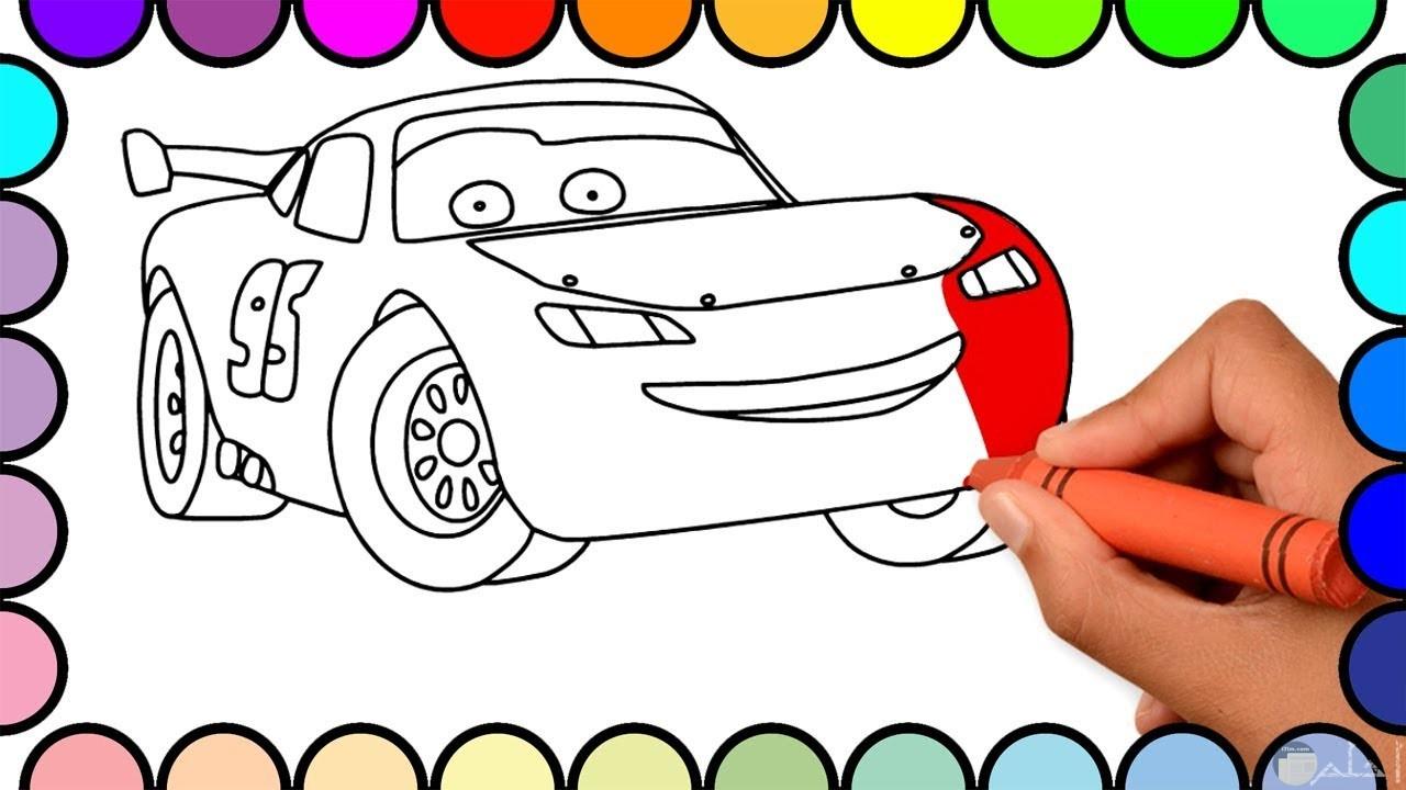 صور سيارات للتلوين بالألوان