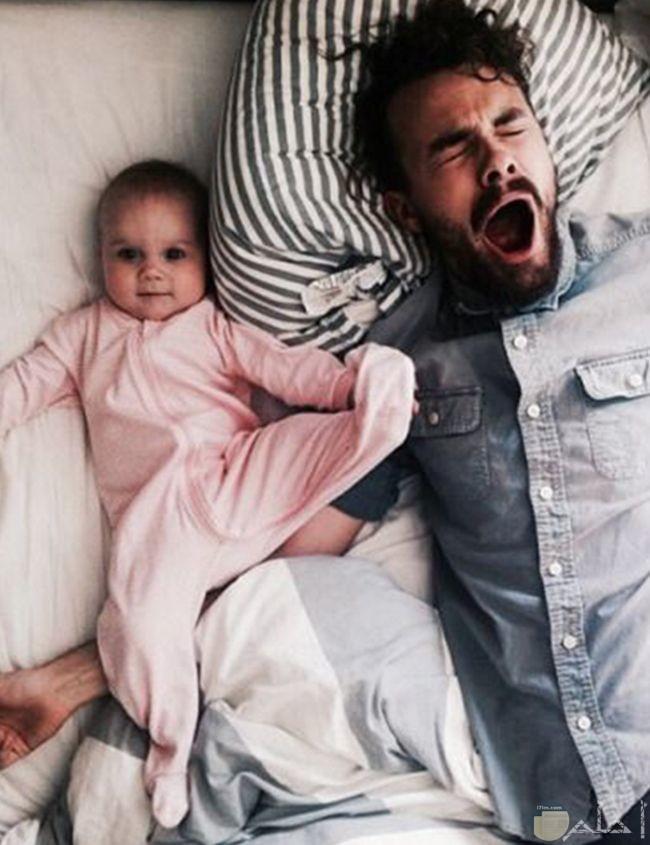 أب وابنه ولقطة مضحكة