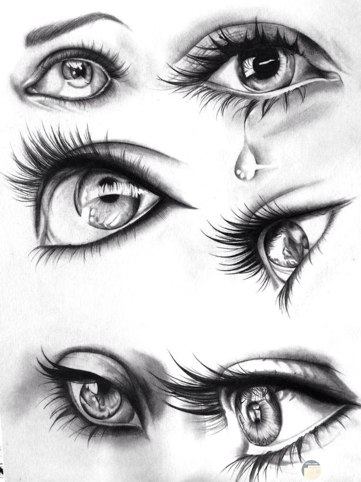 رسومات عيون تبكي