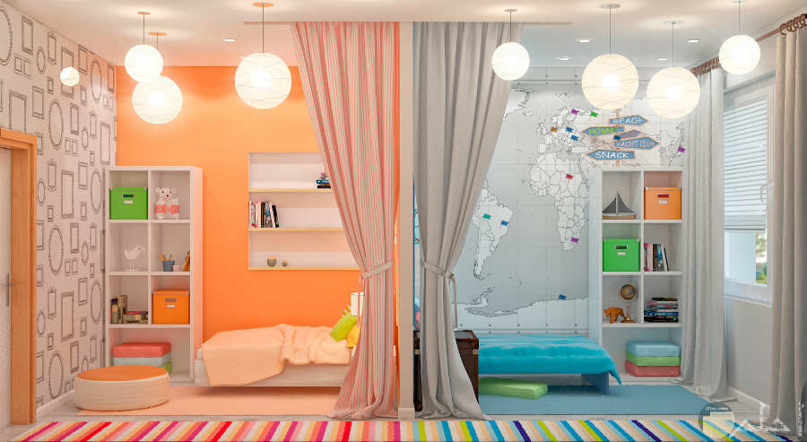 أجمل الوان مميزة لغرف الأطفال للبنات والأولاد