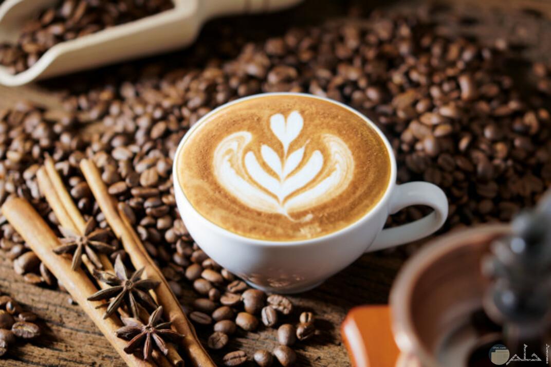 صوره تعبر عن الذوق في تناول القهوه ورسمها