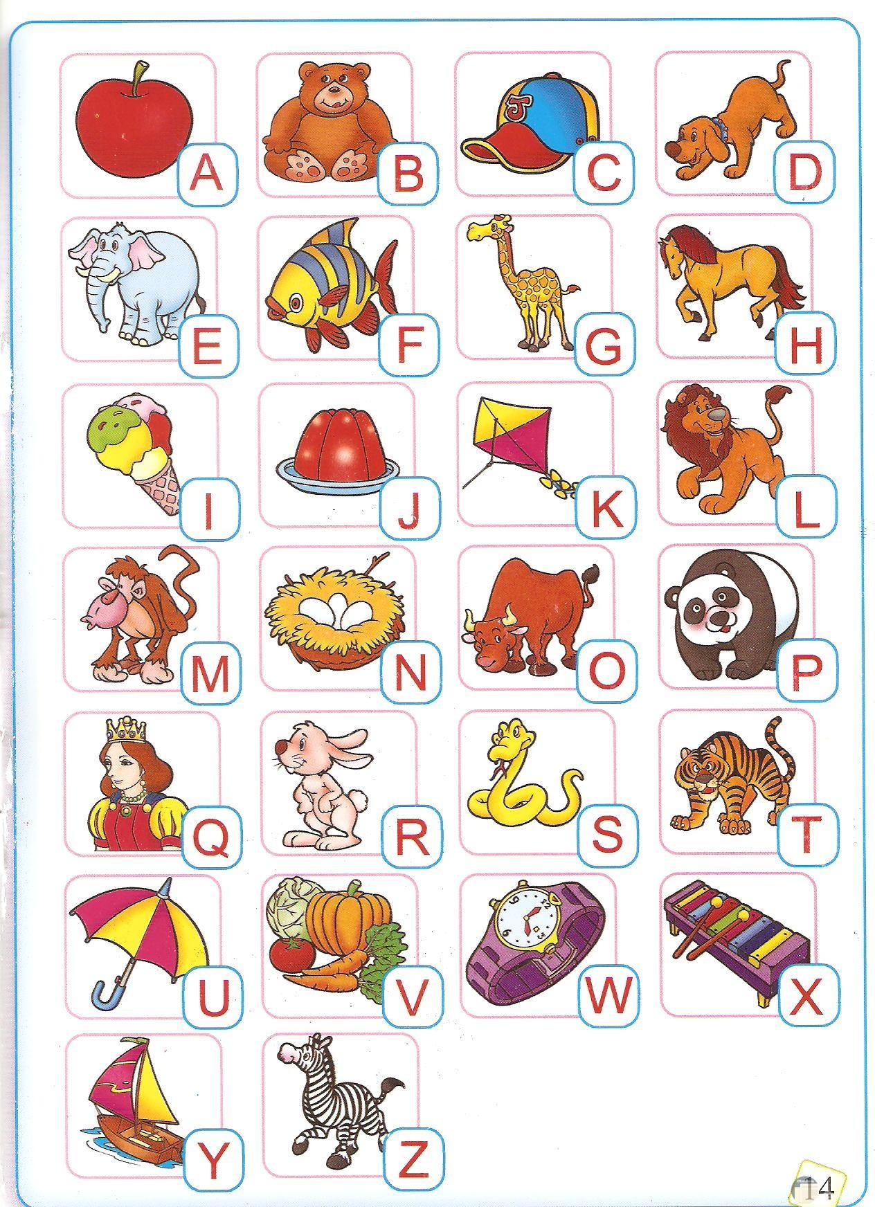 الحروف الإنجليزية للأطفال