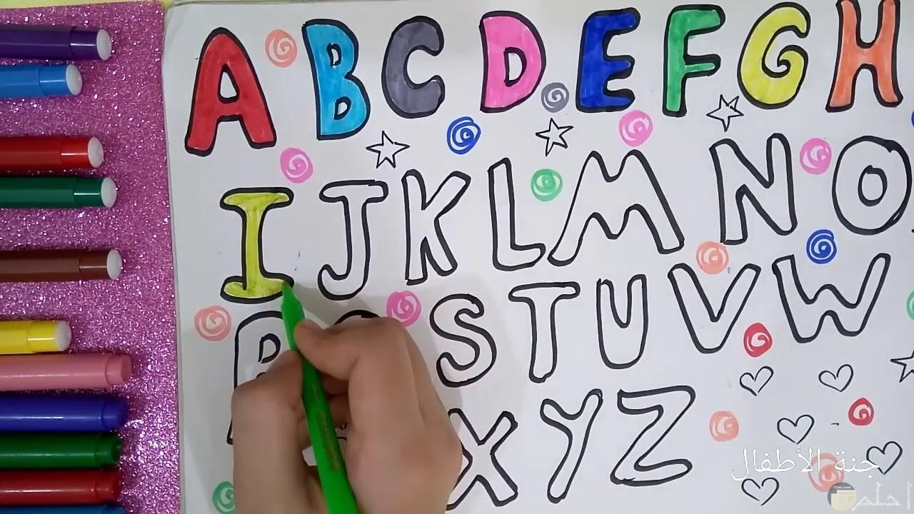 رسم الحروف الانجليزية