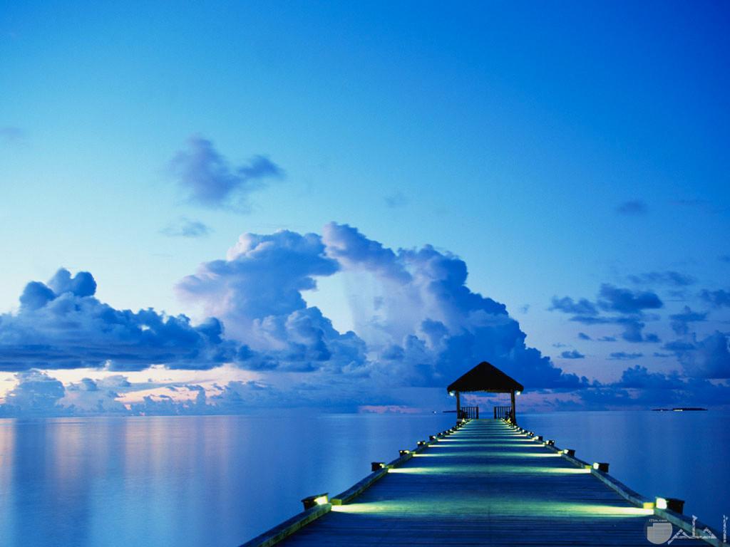 جمال الطبيعة والسحاب والبحر
