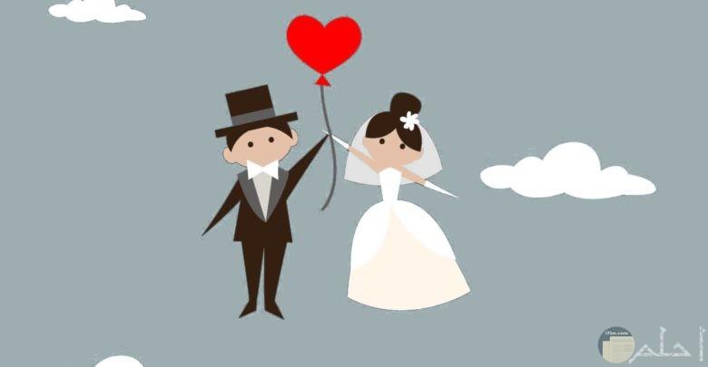 صورة كرتون عروسين