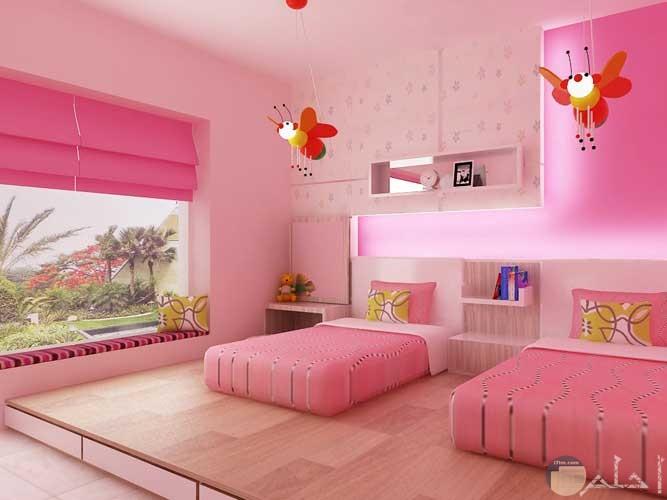 غرفة نوم بناتي فوشيا وبمبي