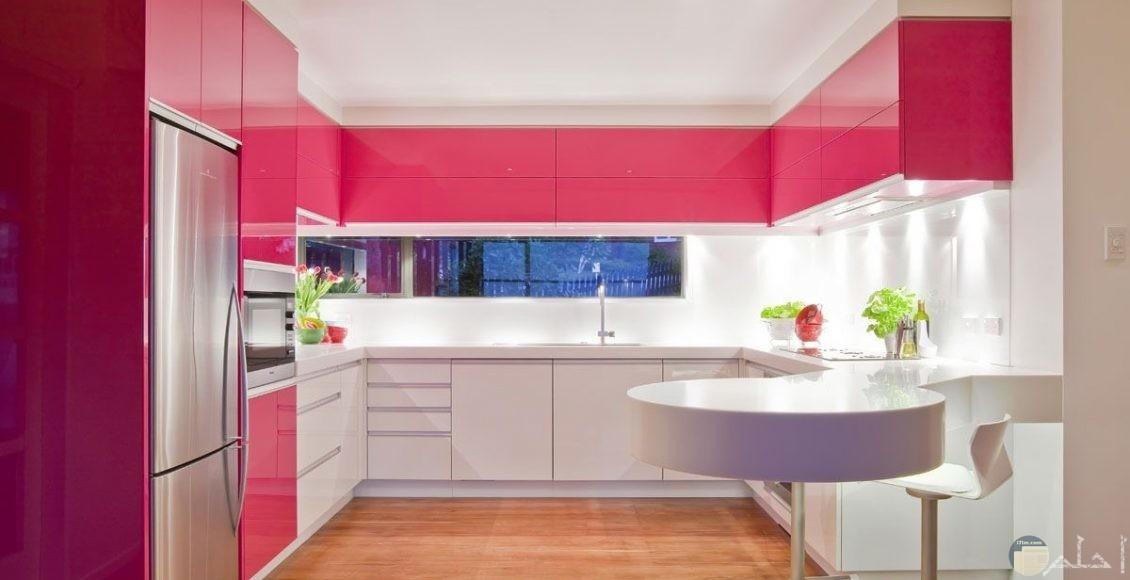 مطبخ وردي مميز
