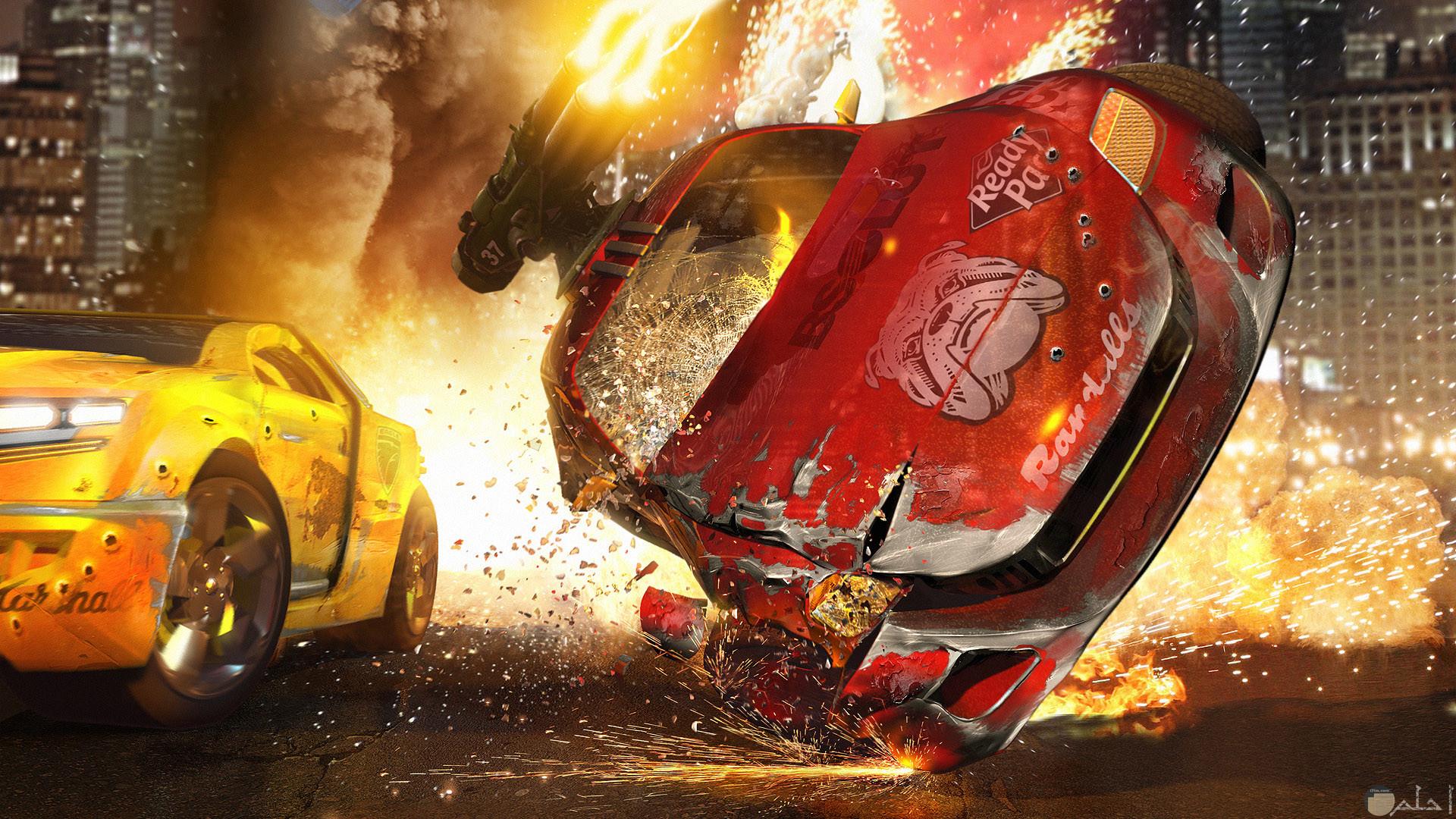 صورة أكشن من فيلم سيارات