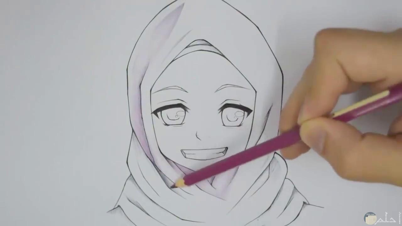 طريقة رسم فتاة محجبة
