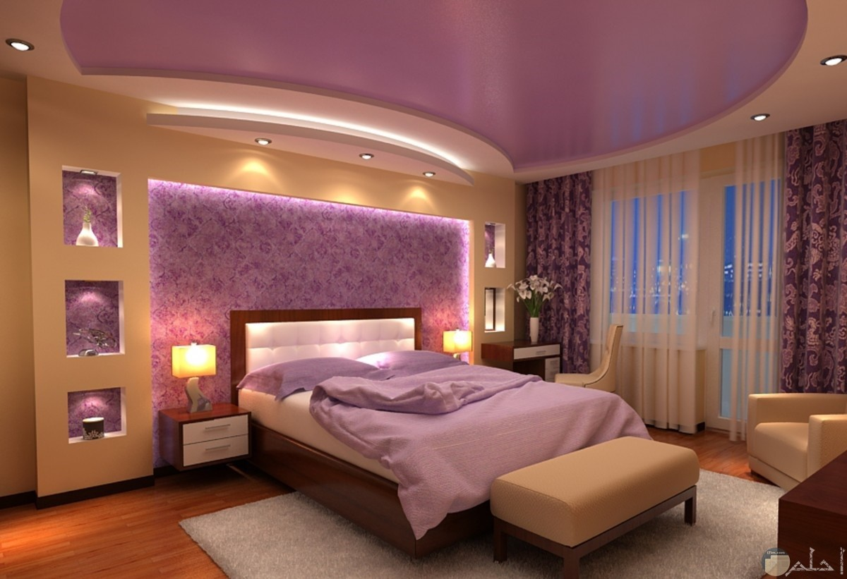 رسومات جبس رائعة لغرفة نوم عصرية