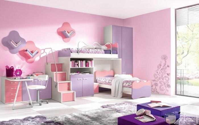 صورة غرفة بنت مودرن روز وموف