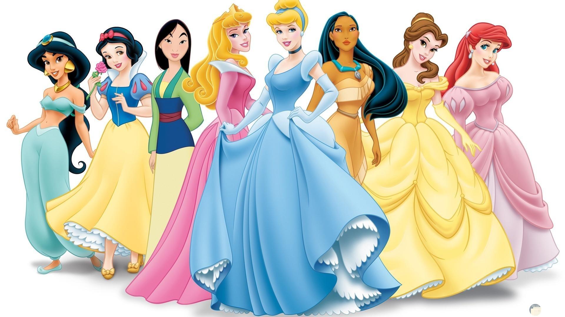 أميرات ديزني الثمانية.