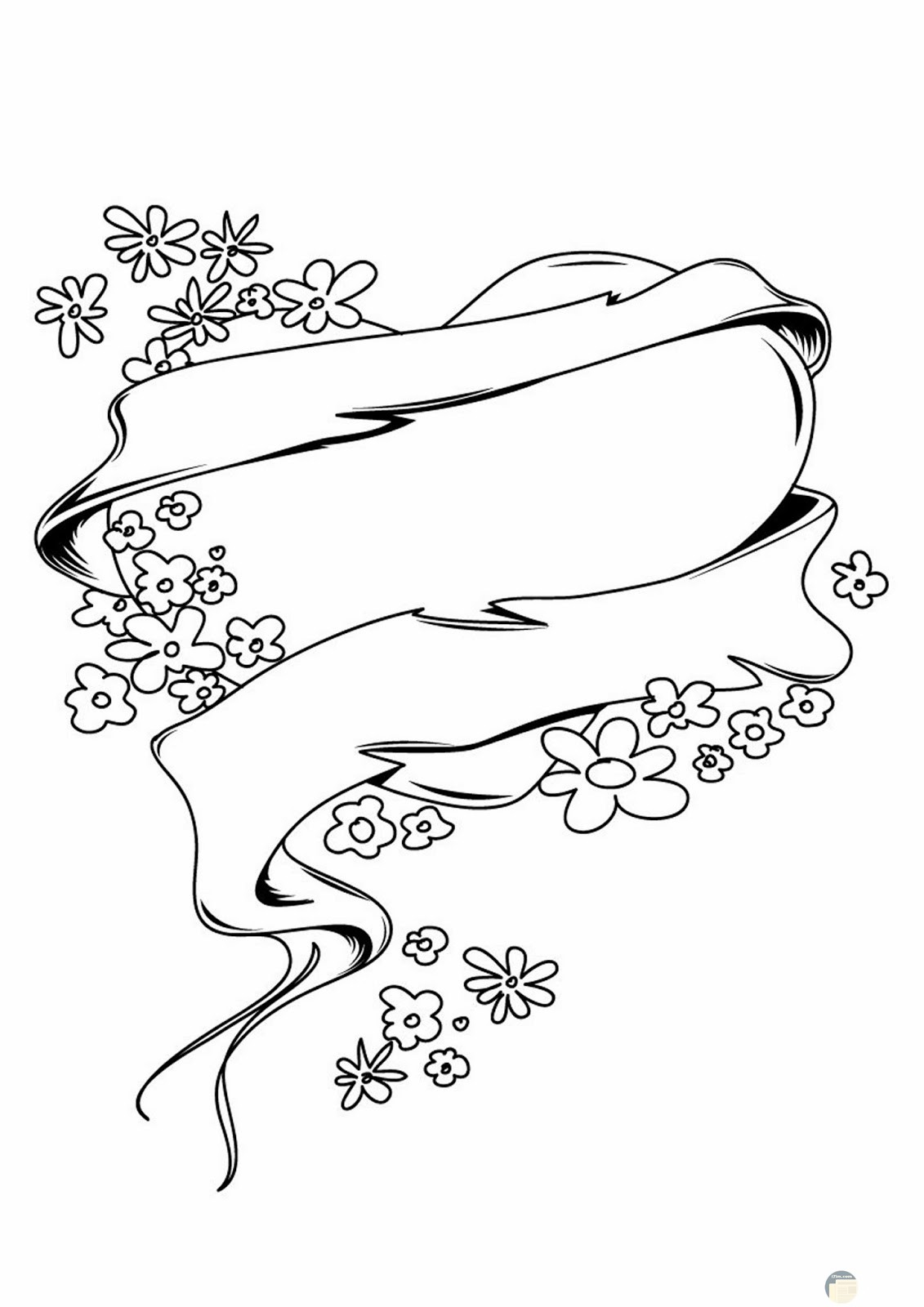 قلب رائع محاط بشريط من الورود